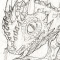 preview of Iskierka hatching, pencils