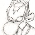 preview of Minbari!RatCreature pencils