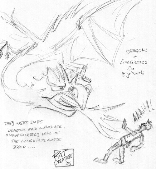 dragons +linguistics for gryphonrhi