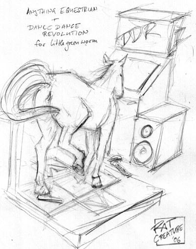 anything equestrian + Dance Dance Revolution for littlegreenworm