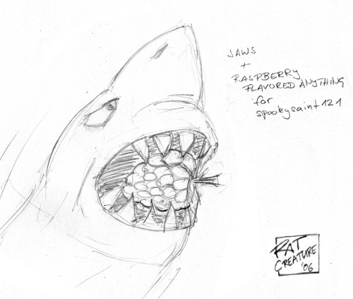Jaws + raspberry flavored anything for spookysaint121