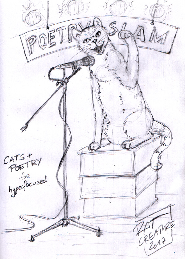 cats + poetry for hyperfocused