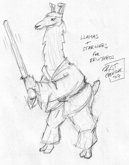 llamas + star wars for eruthros