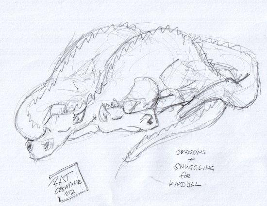 dragons + snuggling for kindyll