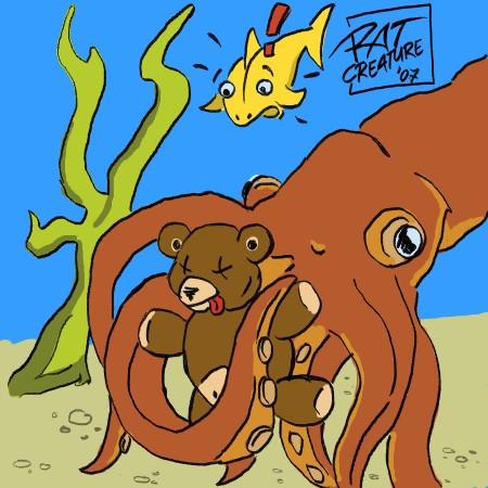 teddy bear + tentacle rape
