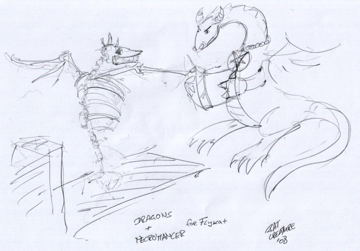 dragons + necromancer for flykat