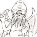 preview of cute cthulhu doodle