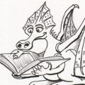 preview of a bookmark dragon doodle